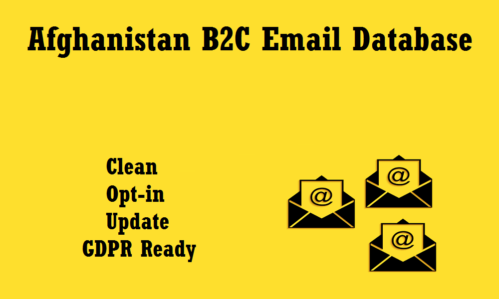 Afghanistan B2C Email Database