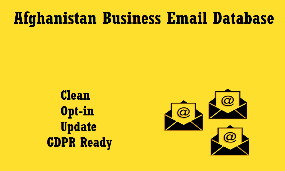 Afghanistan Business Email Database