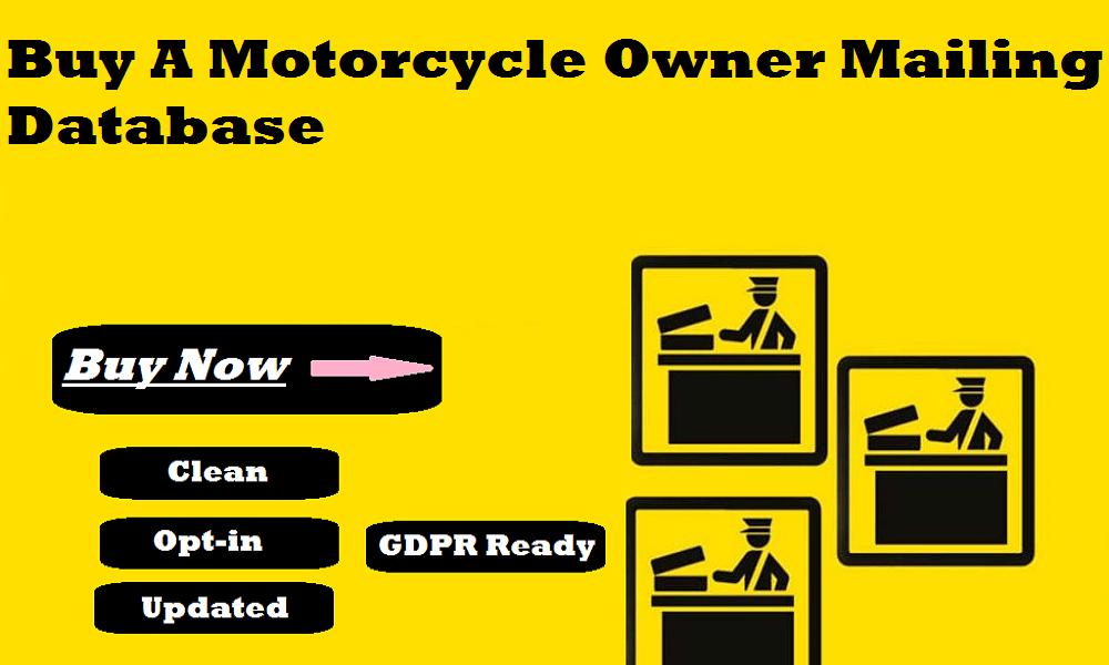 Buy A Motorcycle Owner Mailing Database