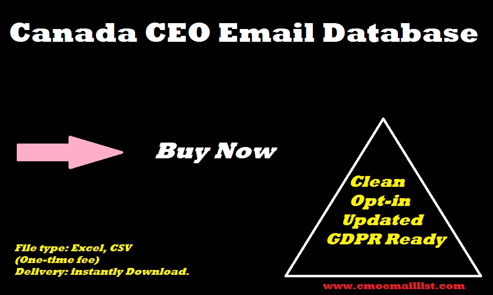 Canada CEO Email Database