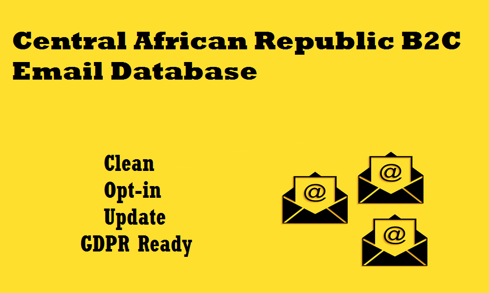 Central African Republic B2C Email Database