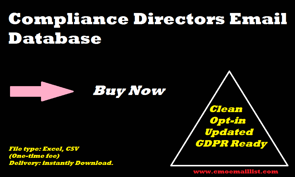 Compliance Directors Email Database