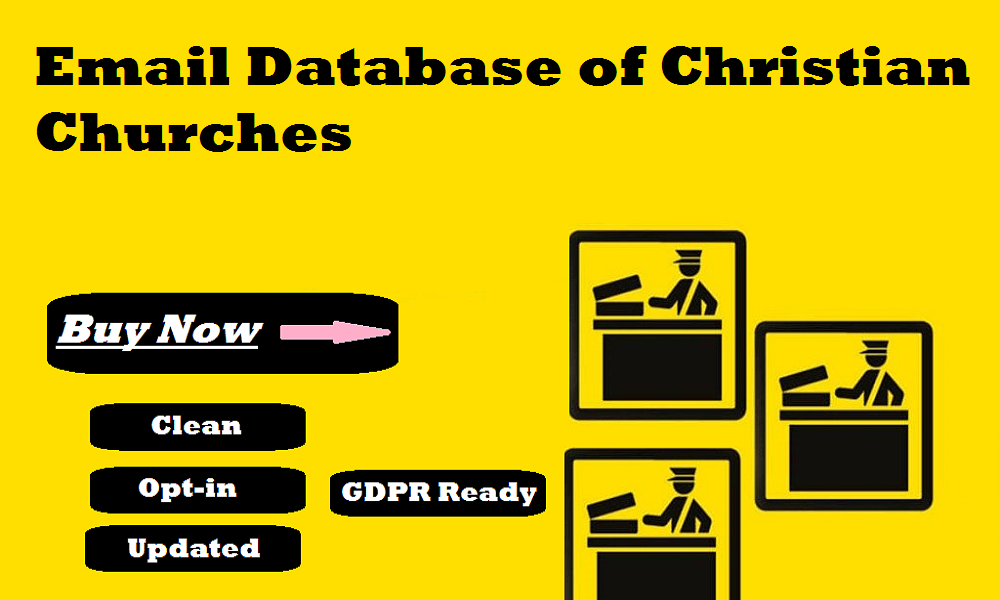 Email Database of Christian Churches