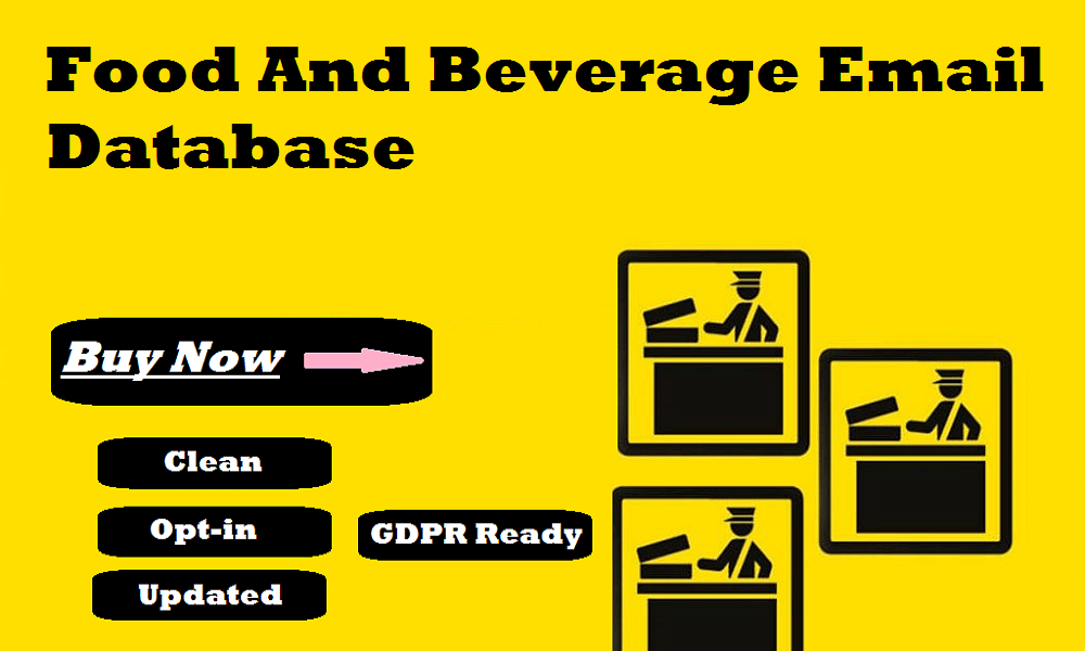 Food And Beverage Email Database