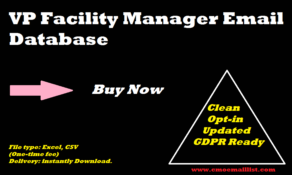 VP Facility Manager Email Database